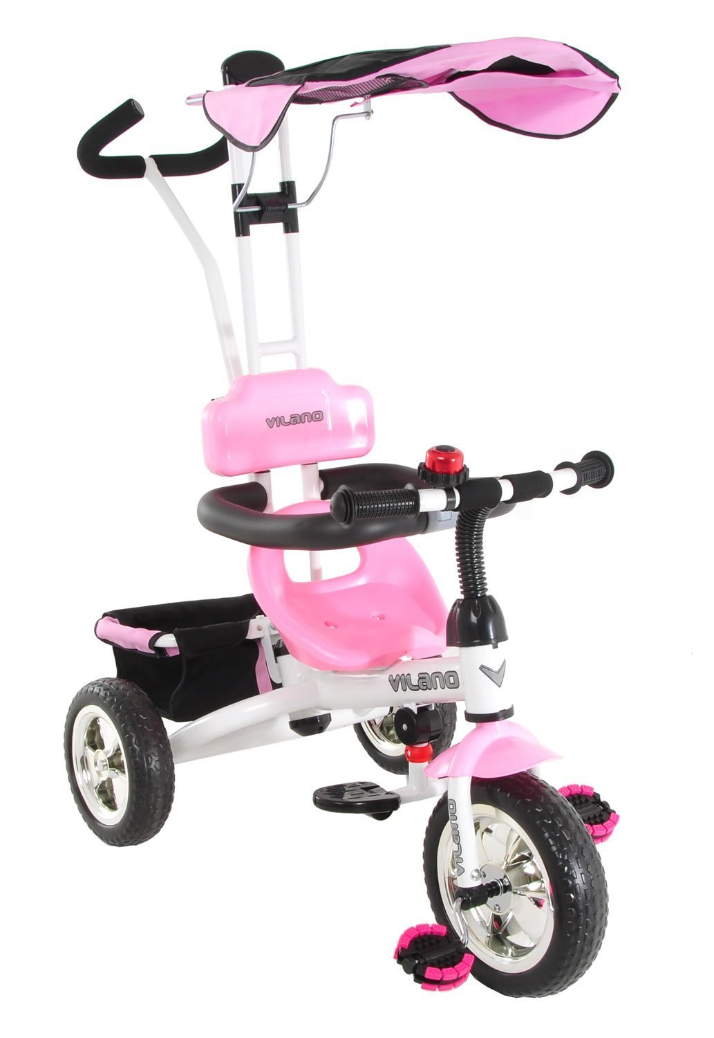 The Vilano 3 in 1 Tricycle and Learn to Ride Trike for toddlers for boys and girls